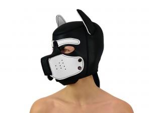 Petplay Neopren Hundemaske Good Puppy schwarz weiß
