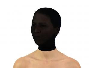 Body Stocking Nylon Strumpf-Maske schwarz