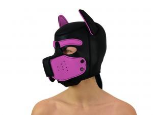 Petplay Neopren Hundemaske Good Puppy schwarz pink