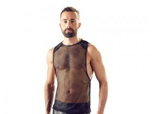 Herren Netzhemd im Loose-Fit-Look Gr. S, M, L und XL