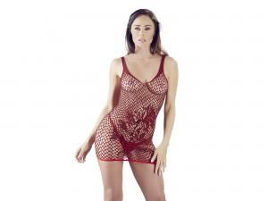 Mandy Mystery Minikleid mit Rankenmuster rot