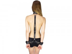 Selfbondage Kit - Hals-Handfessel Rückenfessel