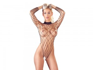 Body aus grobem Netz und Cut-out im Rücken