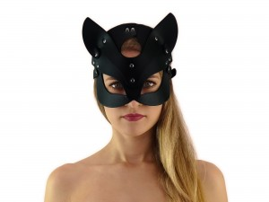 Katzenmaske - BDSM Kitty Kopfmaske mit Katzenohren