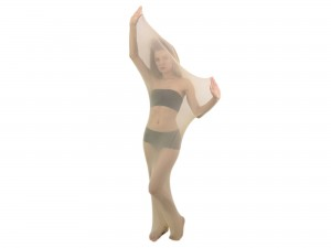 Body Stocking Nylon Cocoon Ganzkörperstrumpf hautfarbend