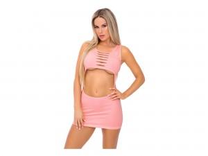 Pink Lipstick Hideway Hottie Seamless Minikleid rosa