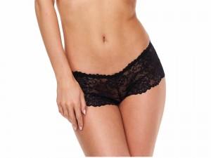 Baci Lingerie Satin Lace Boyshort Panty schwarz Gr. S, M, L und XL