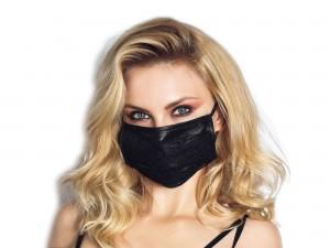 Noir Maske mit Spitze schwarz