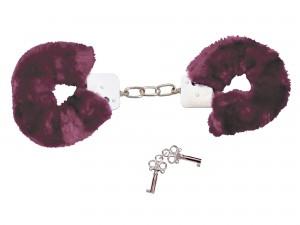 Handschellen mit samtig-weich Plüschüberzug lila
