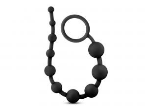 Performance Silicone Anal Beads Analkette schwarz 31 cm