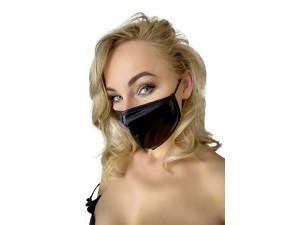 Schlichte Noir Gesichtsmaske schwarz