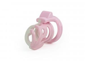 Soft Sissy Peniskäfig 4 Naturharz Cockringe rosa Basic-Lock