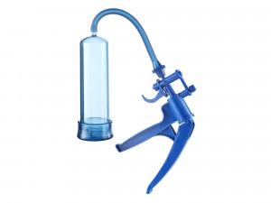 Penispumpe Bang Bang blau mit Scherengriff 22 cm