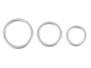 You2Toys Metallic Silicone Cock Ring Set