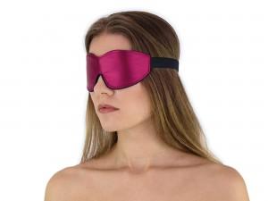 Weiche komfort Augenbinde mit Gummizug Weinrot