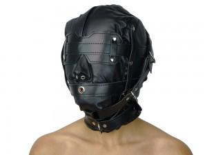 Isolationsmaske Sklaven Maske schwarz