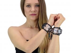 Bondage Kunststoff Handfesseln transparent