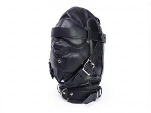 HQ Echtleder Bondage Isolations-Maske