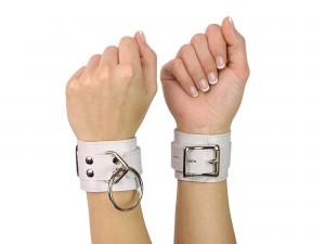 Bondage Manschetten Handfesseln weiß