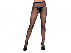 Be Wicked Go Fish ouvert Strumpfhose schwarz