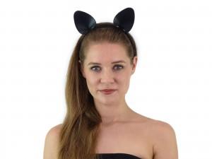 Haarreif mit Katzenohren schwarz