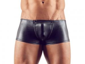 Sven Joyment glänzende Pants mit Reißverschlüssen