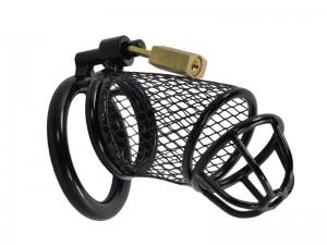 Grid Cage schwarz, Metall Peniskäfig