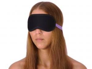 SM Augenbinde Augenmaske Maske schwarz lila