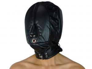 Isolationsmaske muffled BDSM-Maske ohne Augenlöcher