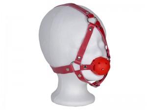Bondage Harness Ball Knebel rot