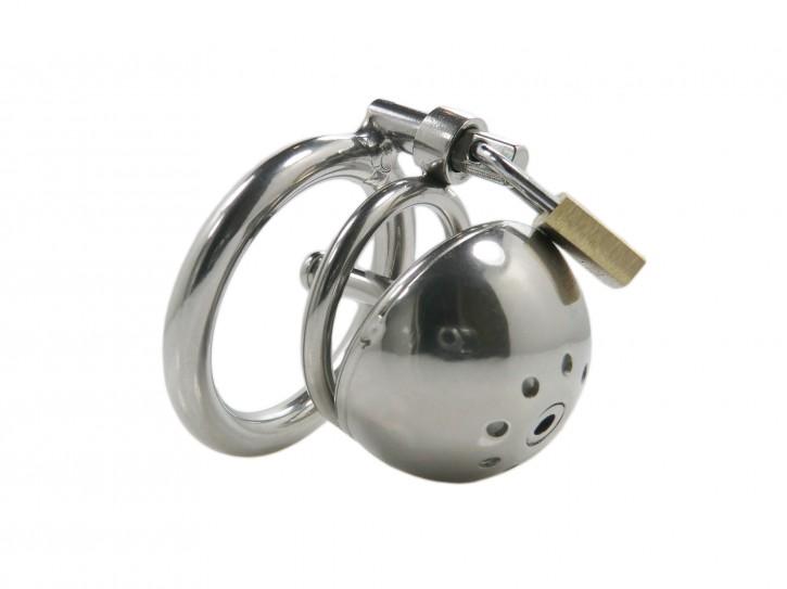 """""""Ring CB Steel S"""" kleiner Edelstahl Peniskäfig mit Dilator"""