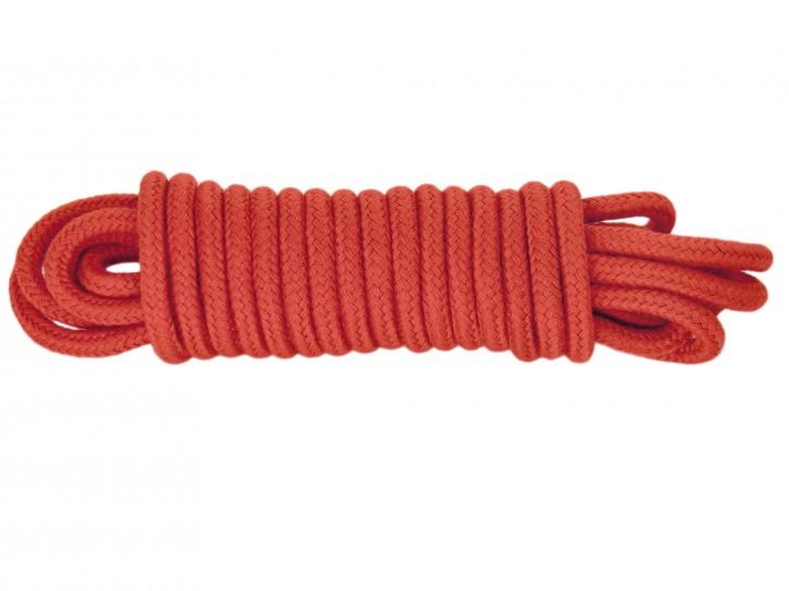 5m Bondage-Seil Baumwolle rot