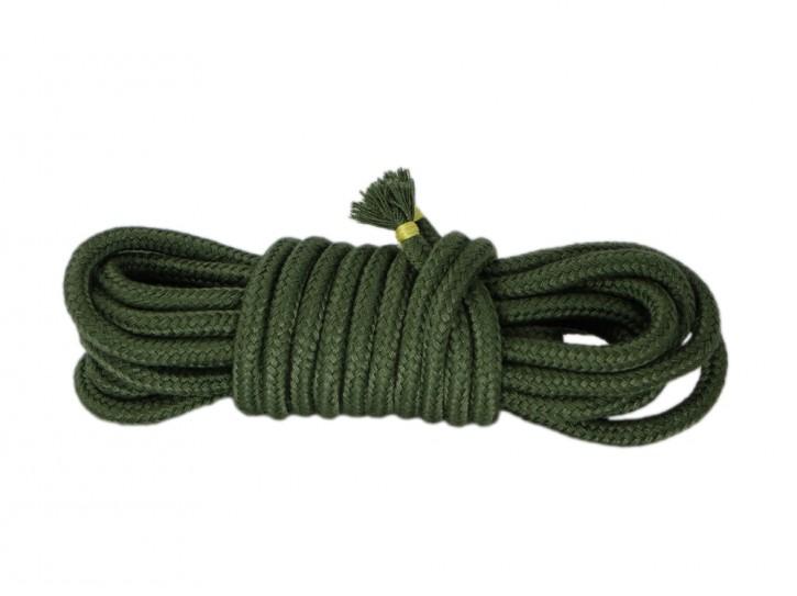 5m Bondage-Seil Baumwolle olivgrün