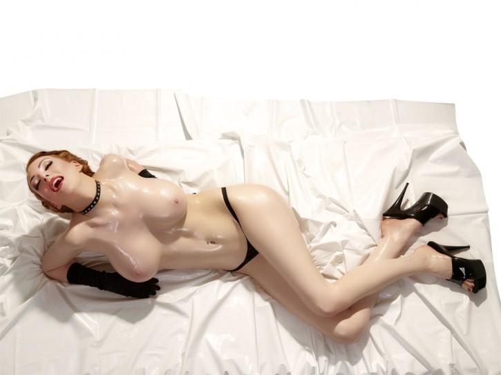 Lack Bettlaken weiß