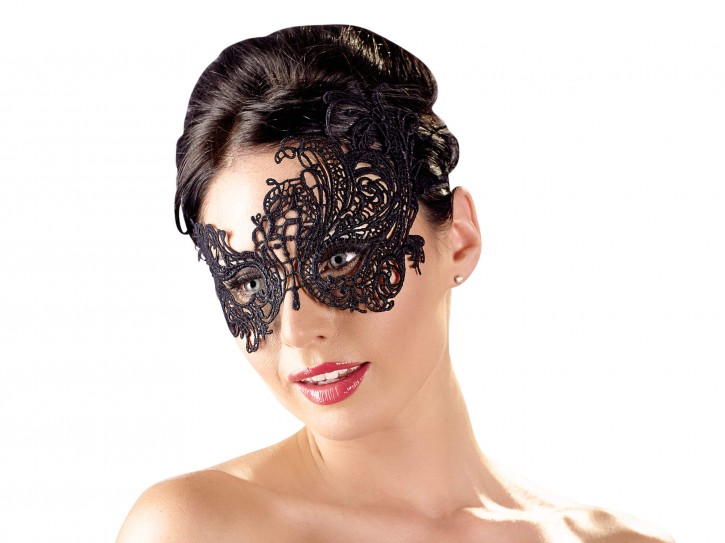 Cottelli Collection Maske Stickerei schwarz