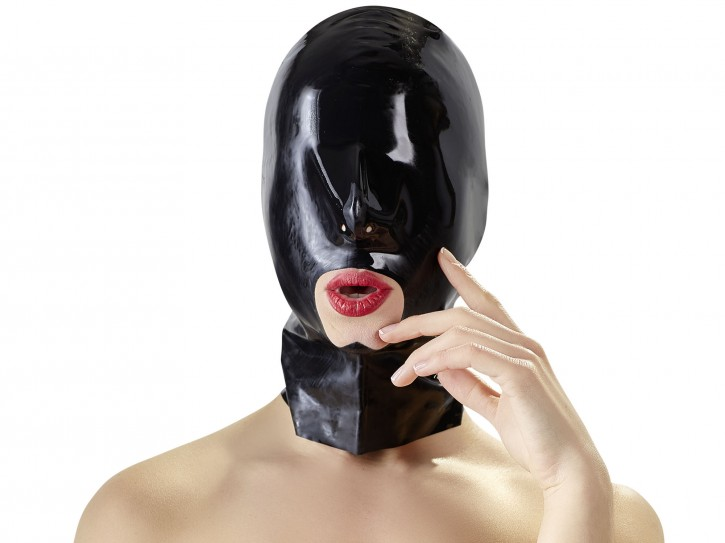 LATE X Latex-Kopfmaske mit Mundöffnung