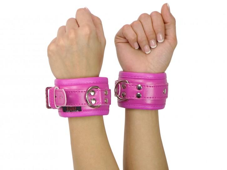 Handfesseln gepolstert und abschließbar pink