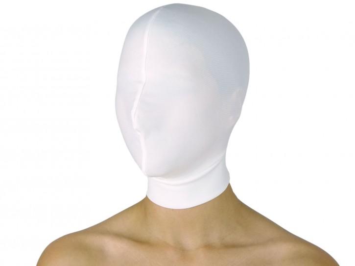Dehnbare Kopfmaske ohne Öffnungen Weiß