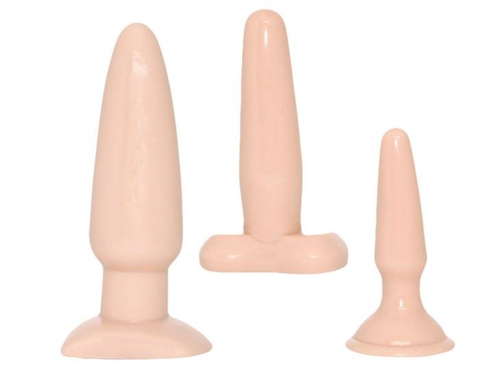 Anal-Dildo mit Saugfuß Vanilla Dip Buttplug
