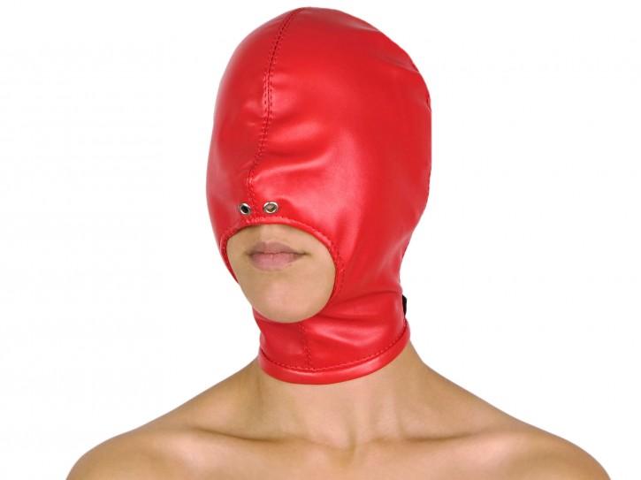 Blind Kiss Maske mit offenem Mund rot