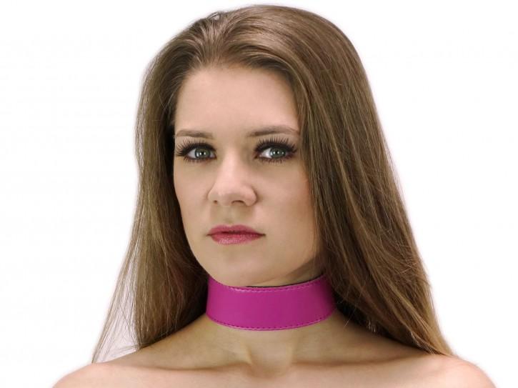 40 mm breites Halsband clean Pink