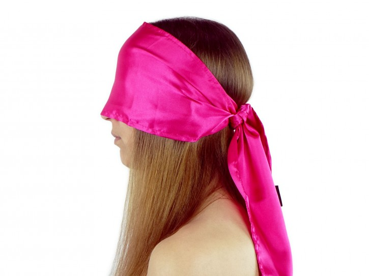 Breite Double-Layer premium Satin Augenbinde Pink