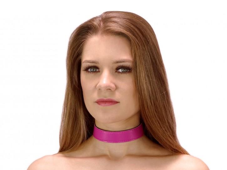 Dezentes BDSM Halsband clean Pink