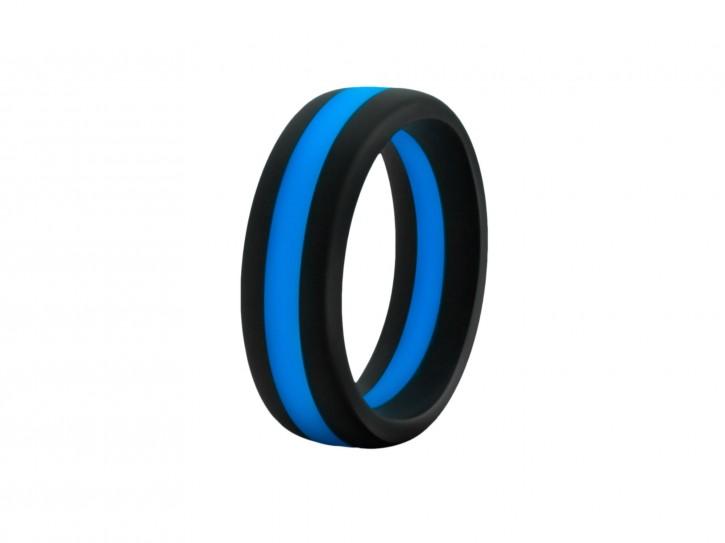 Performance Silikon Go Pro schwarz/blau Cock Ring