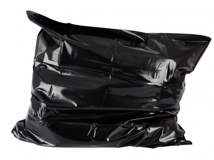 PVC Orgy Kissenbezug schwarz 80x80cm