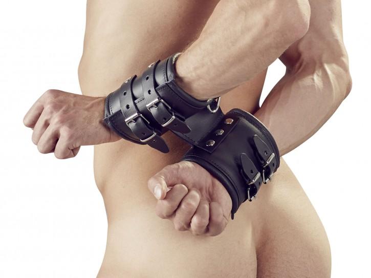 Zado extra breite Leder Handfesseln