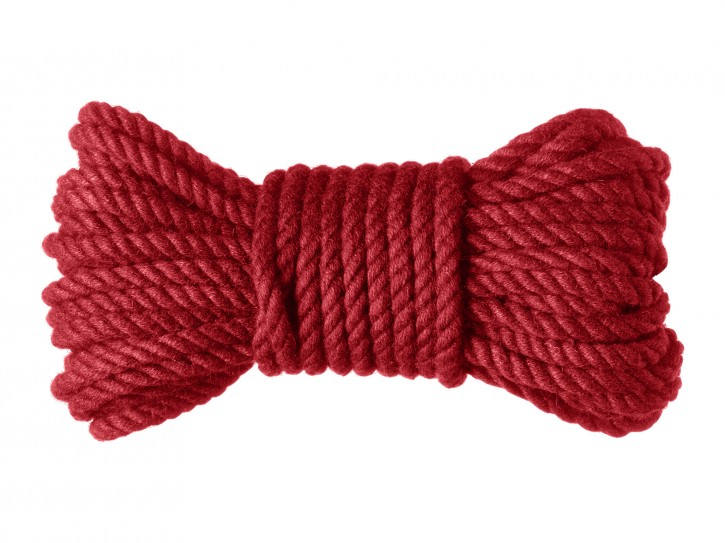 Premium Shibari Bondage-Seil aus Hanf rot 10m