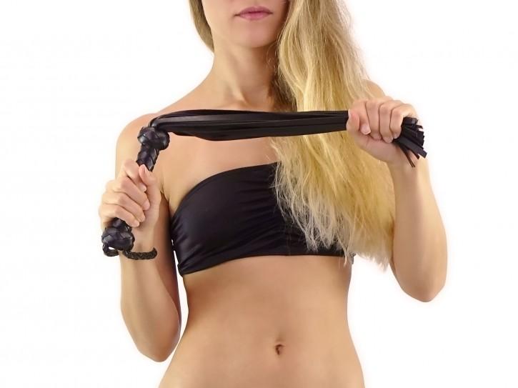 Klassischer BDSM Flogger schwarz