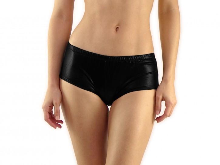 Panty aus Wetlook-Material schwarz Gr. S