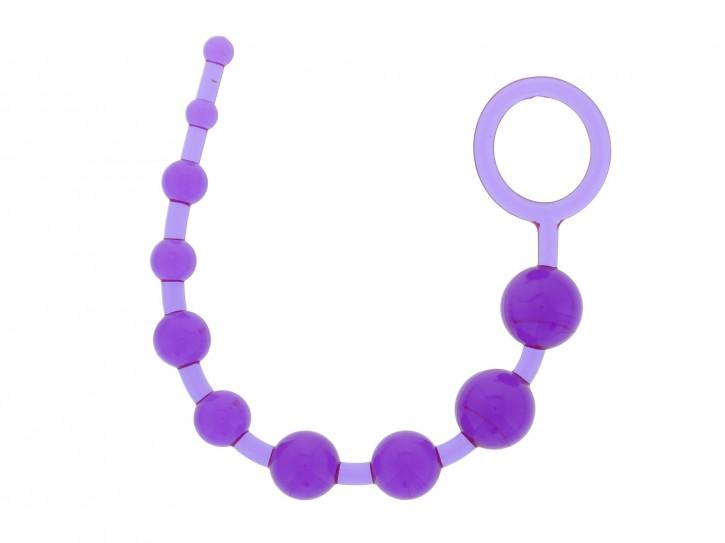 Dream Toys Pleasure Beads Analstrang lila 32 cm